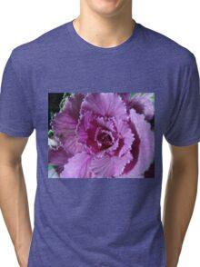 Pretty in Purple - Ornamental Cabbage Macro Tri-blend T-Shirt