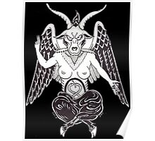 White Baphomet Poster