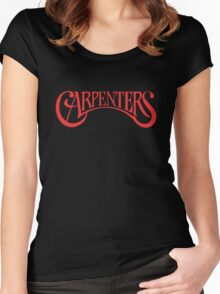 the carpenters vintage Women's Fitted Scoop T-Shirt