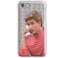 Zack Morris 867-5309 iPhone Case/Skin