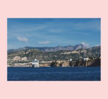 Cruising the Med - Cruise Ship, Imposing Cliff, and Calm Blue Mediterranean Water at Sorrento, Italy Baby Tee