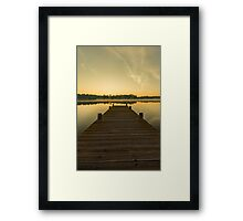Sunrise on lake Framed Print