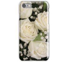White Wedding Roses iPhone Case/Skin
