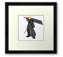 Cloud Strife Vector/Minimalist (Advent Children)  Framed Print