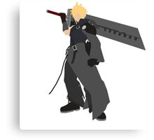 Cloud Strife Vector/Minimalist (Advent Children)  Canvas Print