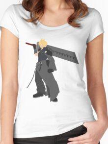 Cloud Strife Vector/Minimalist (Advent Children)  Women's Fitted Scoop T-Shirt