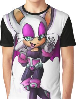 Rouge the bat- Sonic Heroes outfit Graphic T-Shirt