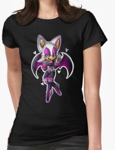 Rouge the bat- Sonic Heroes outfit Womens Fitted T-Shirt