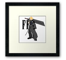 Cloud Strife Vector/Minimalist (Advent Children, Black Logo) Framed Print