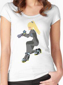 Zero Suit Samus Vector/Minimalist (Black Outfit) Women's Fitted Scoop T-Shirt