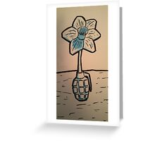 Daffodil Grenade Greeting Card