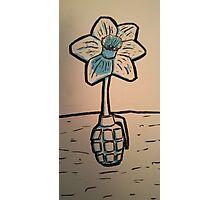 Daffodil Grenade Photographic Print