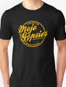 The Mojo Gypsies Long-Sleeve T, gold logo T-Shirt
