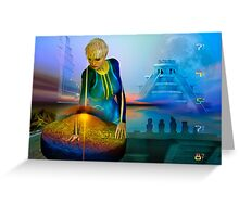 peaceful discovery Greeting Card