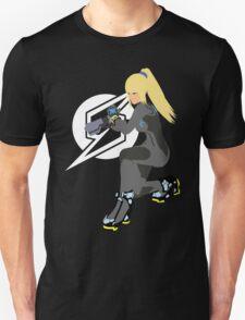 Zero Suit Samus Vector/Minimalist (Black Outfit, White Logo) Unisex T-Shirt