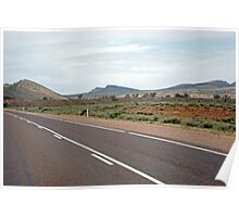 An eye catching view along the road through the Flinders Poster