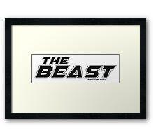 The Beast PC Sticker black Framed Print