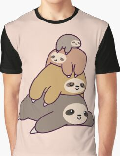Sloth Stack Graphic T-Shirt