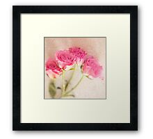 Pink Rose Marble Stone Collage Background Framed Print