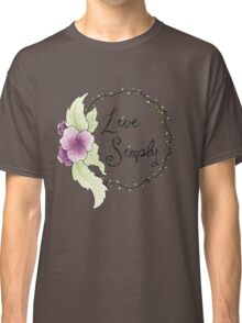 Live Simply Floral Classic T-Shirt