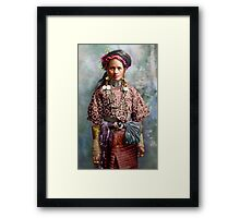 Colorized Philippine Itneg Tribe Woman Framed Print