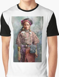 Colorized Philippine Itneg Tribe Woman Graphic T-Shirt