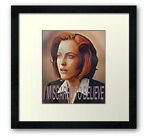 Agent Scully (w/ text) Framed Print