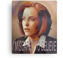 Agent Scully (w/ text) Metal Print