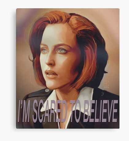 Agent Scully (w/ text) Canvas Print