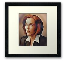 Agent Scully (w/o text) Framed Print