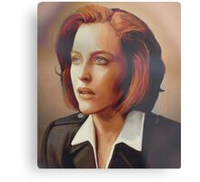 Agent Scully (w/o text) Metal Print