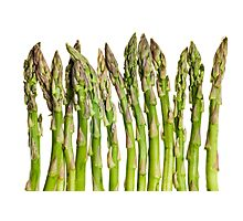 Asparagus Isolated On White Background Photographic Print