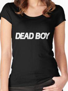 DEAD BOY WHITE Women's Fitted Scoop T-Shirt