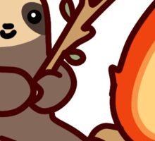 Campfire Sloth Sticker