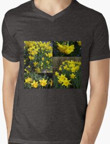 A Collage of Golden Daffodils Mens V-Neck T-Shirt
