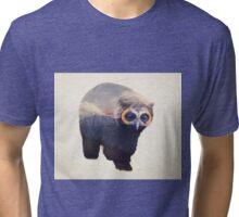 Owlbear in Mountains Tri-blend T-Shirt