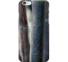 Green Brown Bamboo Stalks iPhone Case/Skin