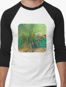 Wall Tulips  Men's Baseball ¾ T-Shirt