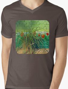 Wall Tulips  Mens V-Neck T-Shirt