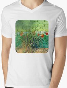 Wall Tulips  Mens V-Neck T-Shirt