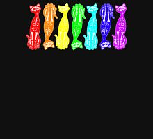 Rainbow Kitten Bones Repeat Unisex T-Shirt