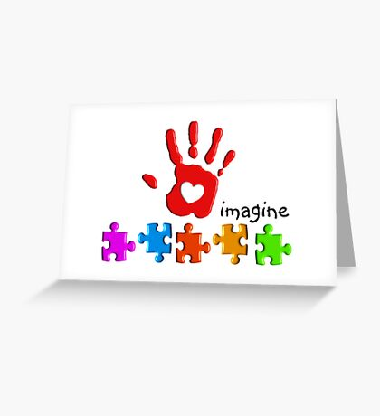 Autism Awareness Childs Hand Greeting Card