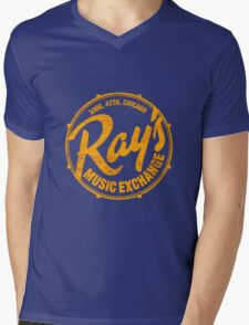 Ray's Music Exchange (worn look) Shirt Mens V-Neck T-Shirt