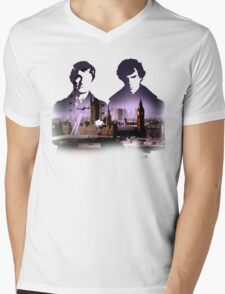 Sherlock Mens V-Neck T-Shirt