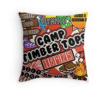 Camp Timber Tops Throw Pillow