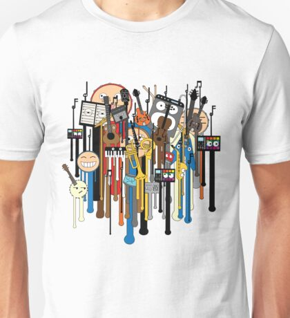 melting faces instruments Unisex T-Shirt