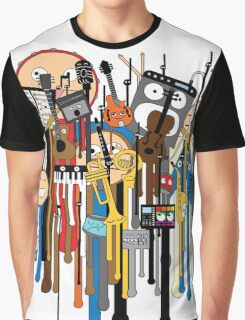 melting faces instruments Graphic T-Shirt