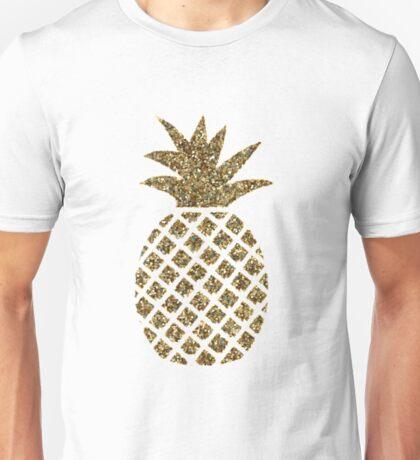 gold glitter pineapple Unisex T-Shirt