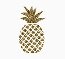 gold glitter pineapple Unisex T-Shirt