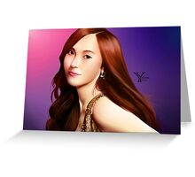 SNSD Jessica Greeting Card